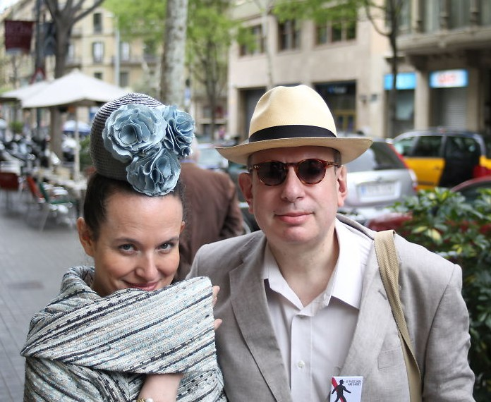 Cristina and Joaquín with Panama hat